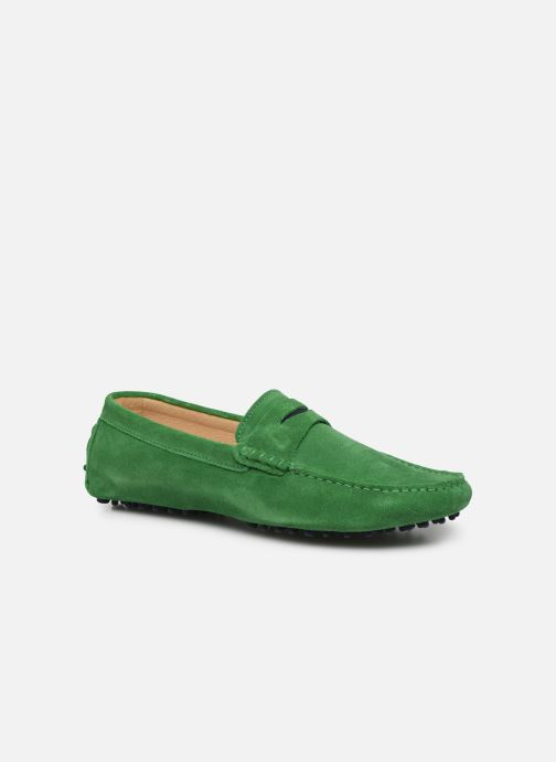 Mocasines Mr SARENZA Suttini Verde vista lateral derecha